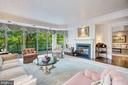 Living room with view of Library - 5630 WISCONSIN AVE #501, CHEVY CHASE