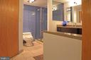 Master en suite - Vanity, shower, & commode - 1600 N OAK ST #1510, ARLINGTON