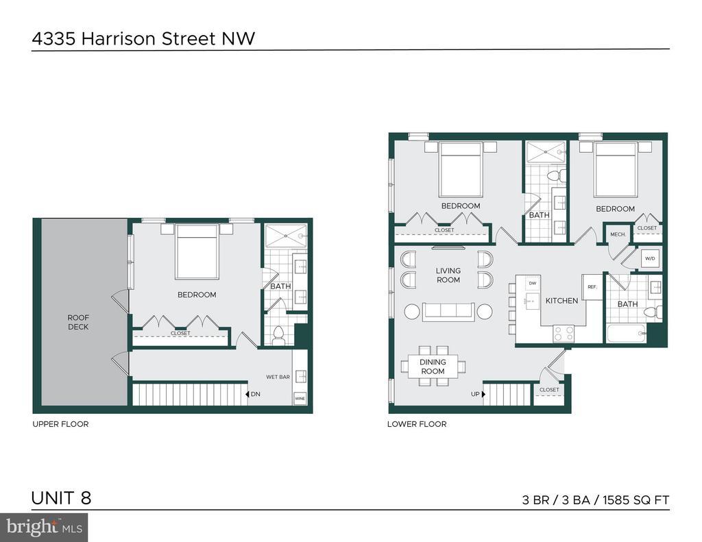 Floor Plan - 4335 HARRISON ST NW #8, WASHINGTON