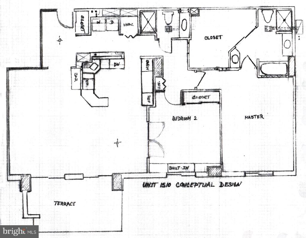 Floor plan - 1600 N OAK ST #1510, ARLINGTON