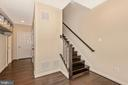 Open foyer with office or bedroom off to the left - 8809 SHADY PINES DR, FREDERICK