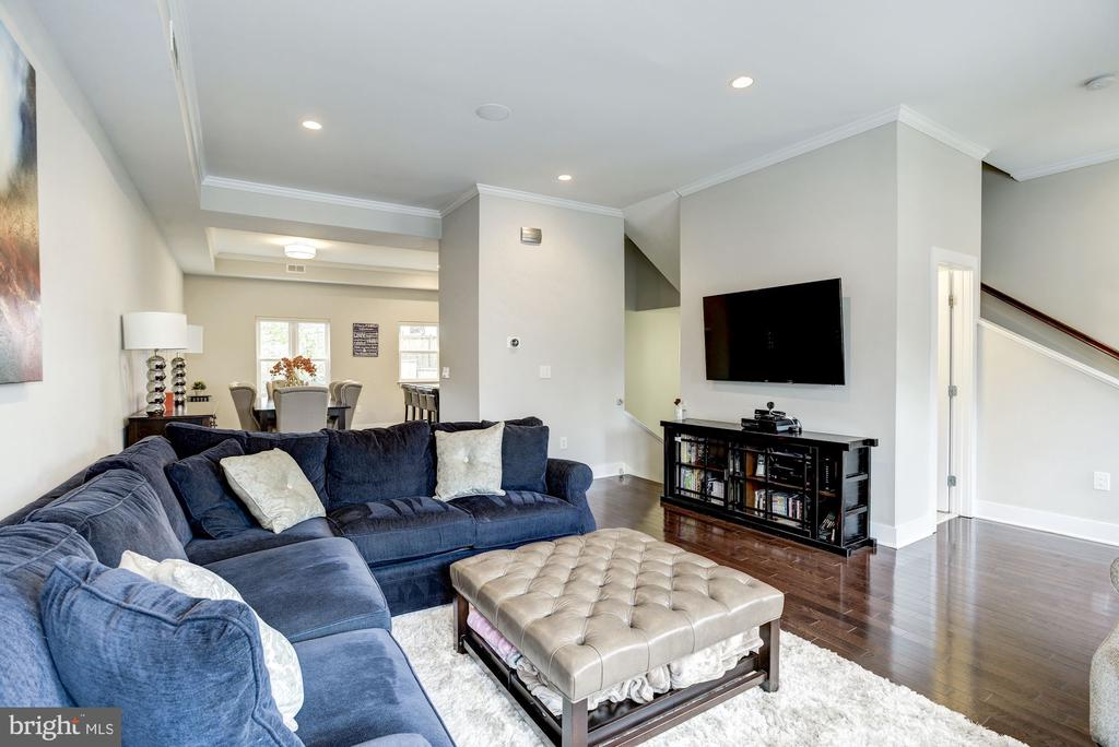 Living room/dining room combo. - 3513 22ND ST S, ARLINGTON