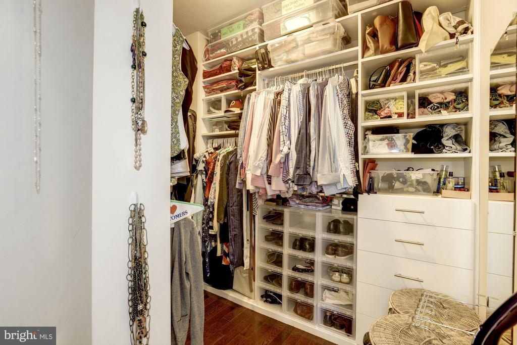 Master bedroom closet with amazing built-ins. - 3513 22ND ST S, ARLINGTON