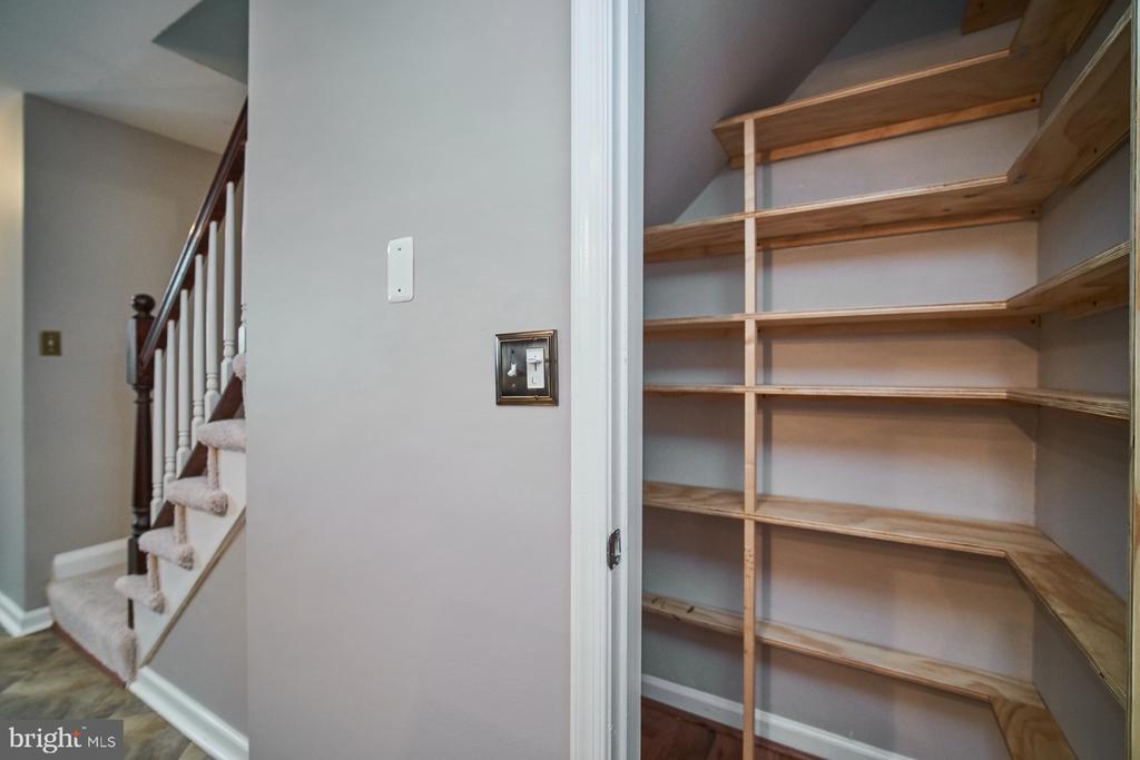 Custom shelving in pantry for easy organization - 1289 N VAN DORN ST, ALEXANDRIA