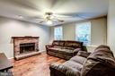 Family Room - Hickory Hardwoods, Large Windows! - 20617 PREAKNESS CT, ASHBURN