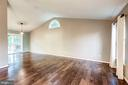 Living Room - Hickory Hardwoods & Vaulted Ceiling! - 20617 PREAKNESS CT, ASHBURN