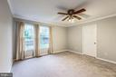 Master Bedroom - Large Windows, Receives Great Sun - 20617 PREAKNESS CT, ASHBURN