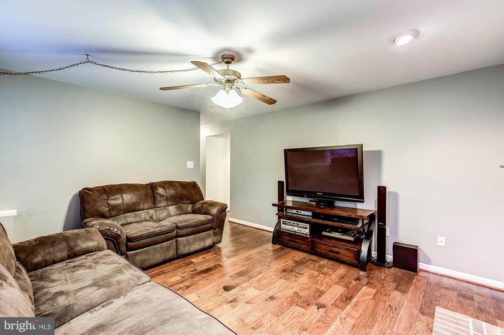 Family Room - Ceiling Fan & Recess Lighting - 20617 PREAKNESS CT, ASHBURN