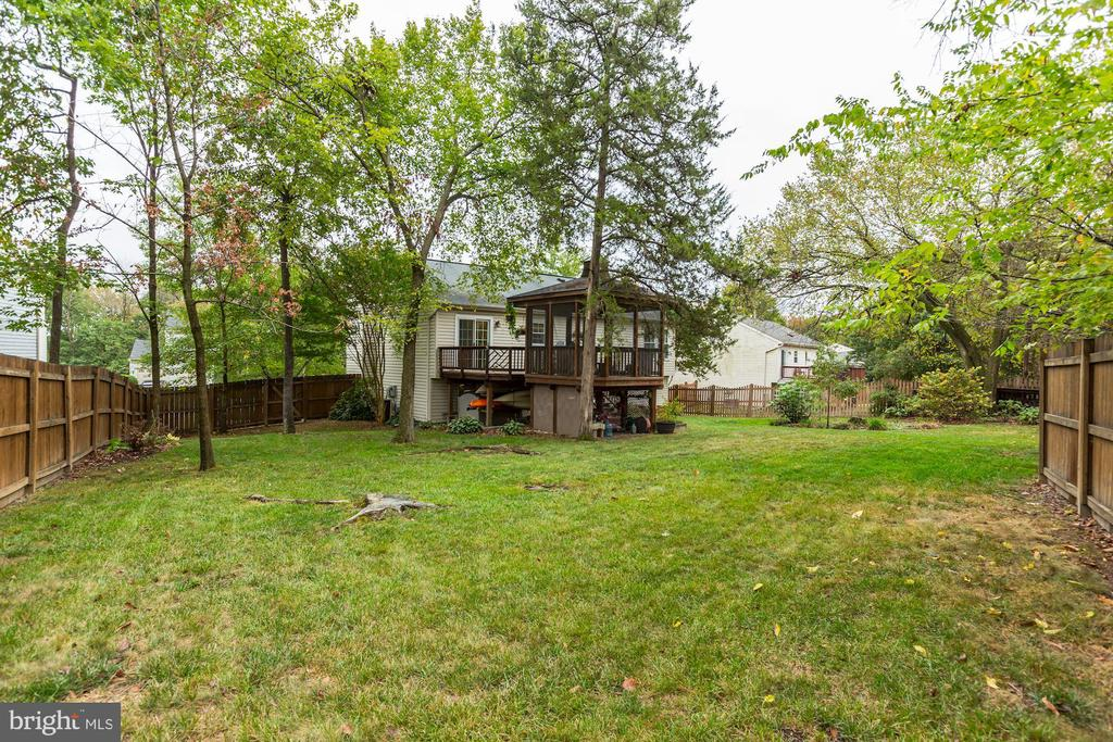 Back Yard - Over10,000 Square Foot Lot! - 20617 PREAKNESS CT, ASHBURN
