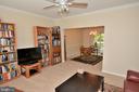 Large bright living room with newer carpet - 9315 PAUL DR, MANASSAS PARK