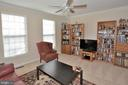 Bright windows  and  crown molding in living room - 9315 PAUL DR, MANASSAS PARK