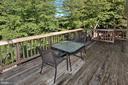 Good size deck on rear of home - 9315 PAUL DR, MANASSAS PARK