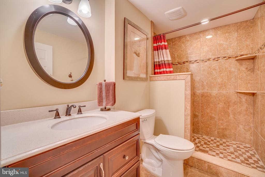 Bathroom 2: NEW Tile, Tub & Toilet - 260 GREENSPRING DR, STAFFORD