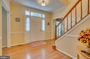 Hardwood Flooring in Foyer - 260 GREENSPRING DR, STAFFORD