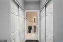 Coat/storage closet on Rt. Washer & Dryer  on Left - 12001 MARKET ST #158, RESTON