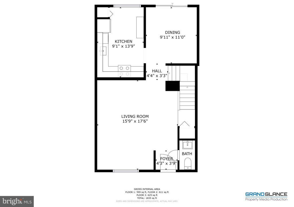 Main Floor layout - 4449 HOLLY AVE, FAIRFAX