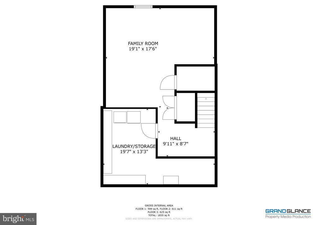 Basement layout - 4449 HOLLY AVE, FAIRFAX