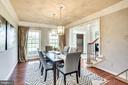 Formal Dining w/ Tray Ceiling, Dual Chandeliers - 20353 TANAGER PL, LEESBURG