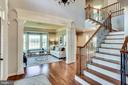 Main Staircase w/ Wrought Iron Balusters - 20353 TANAGER PL, LEESBURG