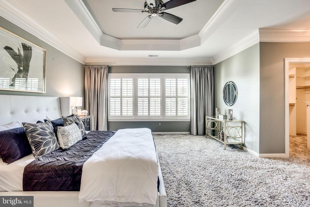Master Suite w/Wall of Windows, Custom Drapes - 20353 TANAGER PL, LEESBURG