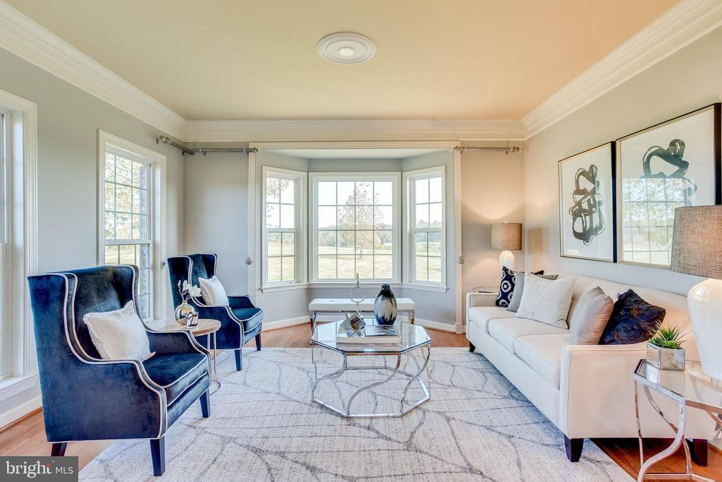 Formal Living Room w/ Sunny Bay Window - 20353 TANAGER PL, LEESBURG