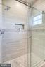 Main Hall Bath Shower w/ Frameless Glass Enclosure - 20353 TANAGER PL, LEESBURG