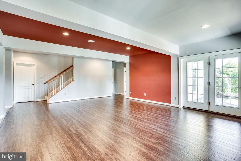 Expansive Rec Room w/French Doors to Patio - 20353 TANAGER PL, LEESBURG