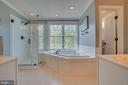 MBath with separate water closet and garden tub - 33 GRISTMILL DR, STAFFORD