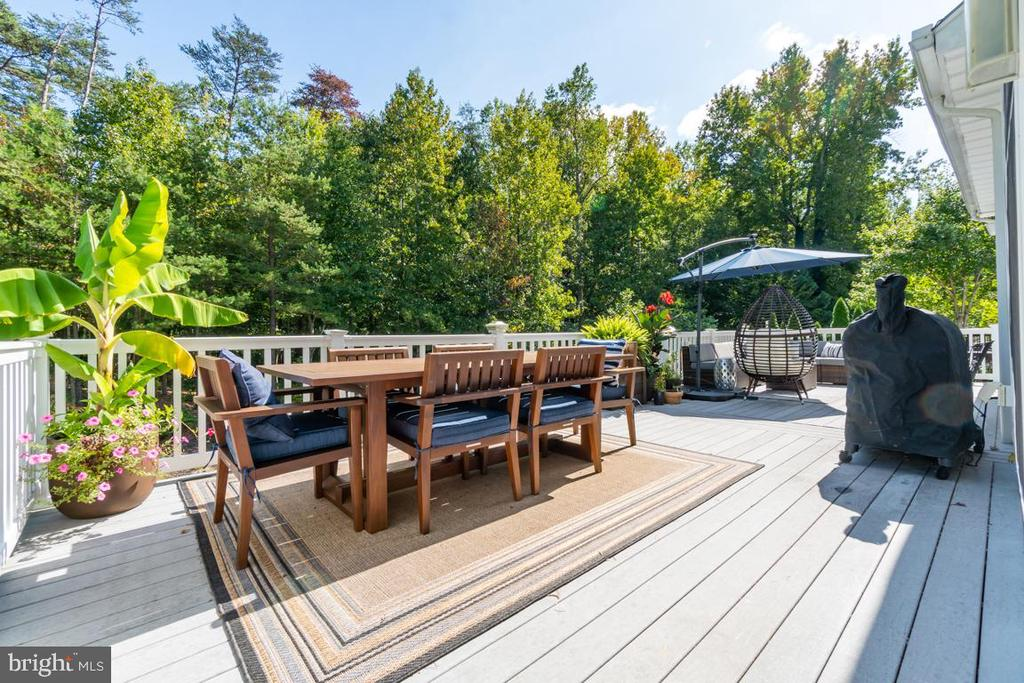 Did I mention the deck? Plenty of privacy. - 33 GRISTMILL DR, STAFFORD