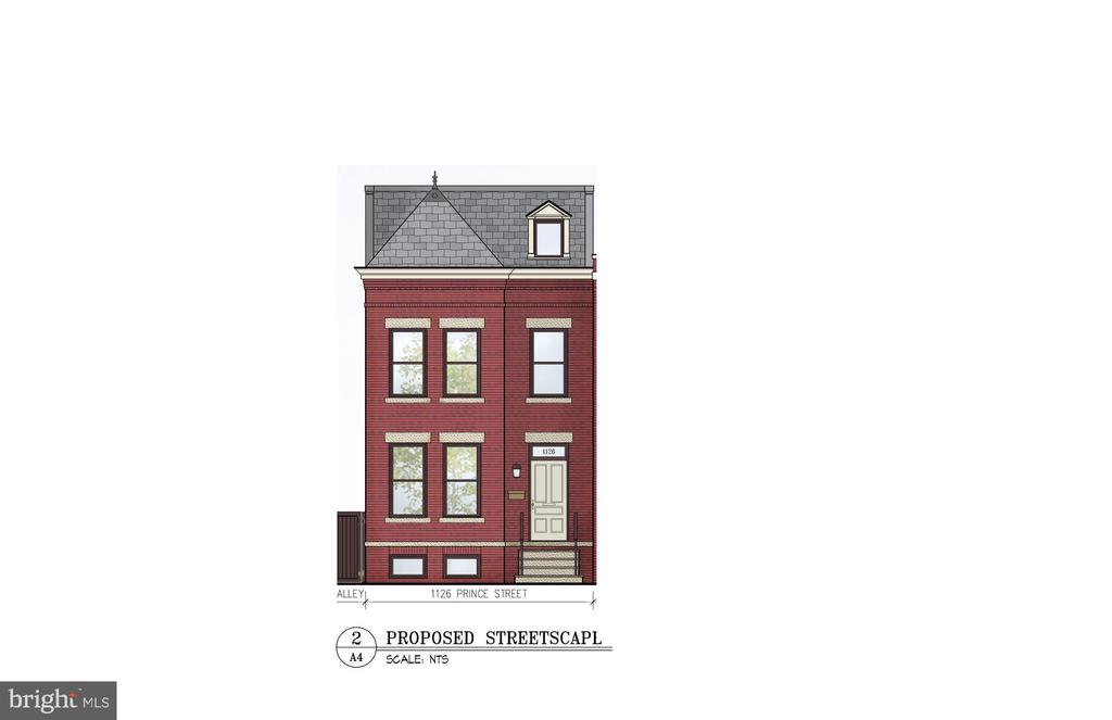 New Home drawing - 1126 PRINCE ST, ALEXANDRIA