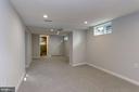 Lower level rec room - 112 S BARTON ST, ARLINGTON