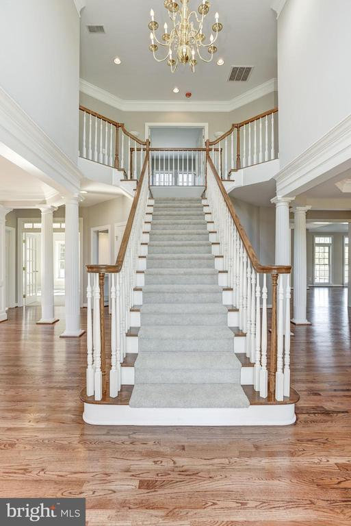 Front Entry Foyer Staircase - 14300 DOWDEN DOWNS DR, HAYMARKET