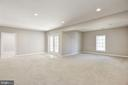 Two large areas in basement for entertaining - 14300 DOWDEN DOWNS DR, HAYMARKET