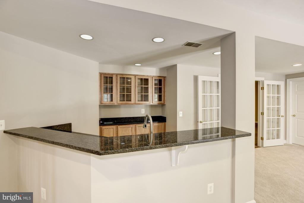 Basement Bar with frig - dishwasher- sink - 14300 DOWDEN DOWNS DR, HAYMARKET
