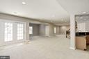 Basement Second Family Room Area or Pool Table? - 14300 DOWDEN DOWNS DR, HAYMARKET