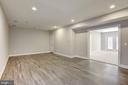 Basement entertainment room or workout room - 14300 DOWDEN DOWNS DR, HAYMARKET