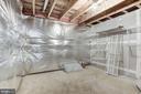 Basement Unfinished Storage Room - 14300 DOWDEN DOWNS DR, HAYMARKET