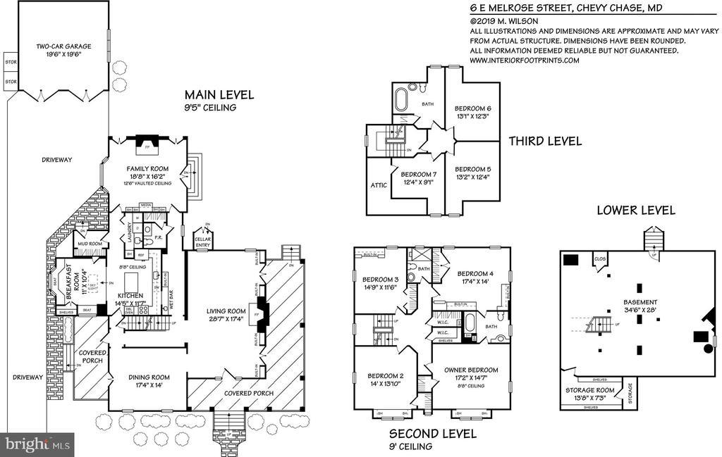 Floor plan - 6 E MELROSE ST, CHEVY CHASE