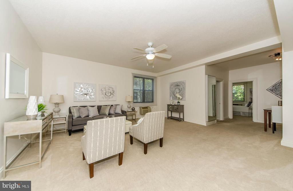 Open and Airy floor plan - 3100 CONNECTICUT AVE NW #229, WASHINGTON