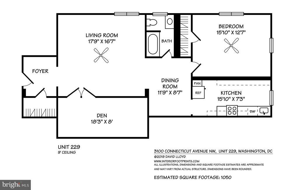 Interior Footprint - 3100 CONNECTICUT AVE NW #229, WASHINGTON
