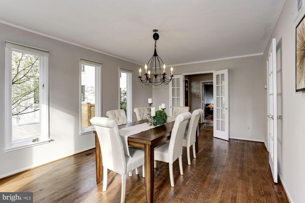 Formal Dining Room with Walls of Windows - 4233 42ND ST NW, WASHINGTON