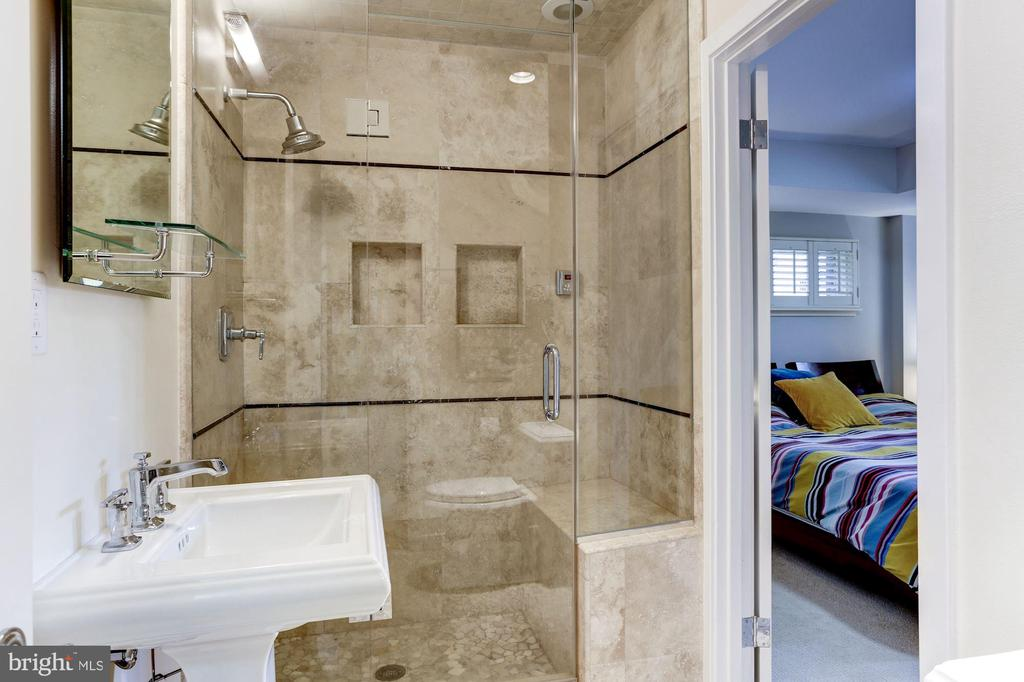 Lower Level Bath with Steam Shower - 4233 42ND ST NW, WASHINGTON