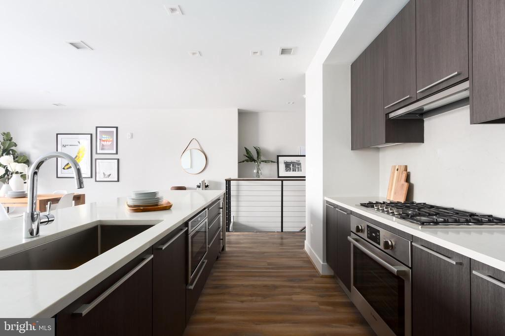 Kitchen with Caesarstone counters, Bosch - 1628 11TH ST NW #103, WASHINGTON