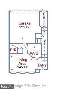 Large house Floor 1 (see dimensions) - 23504 PUBLIC HOUSE RD, CLARKSBURG