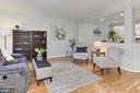 Light-Filled Living Room w/ Beautiful Wood Floors - 2309 YVONNES WAY, DUNN LORING