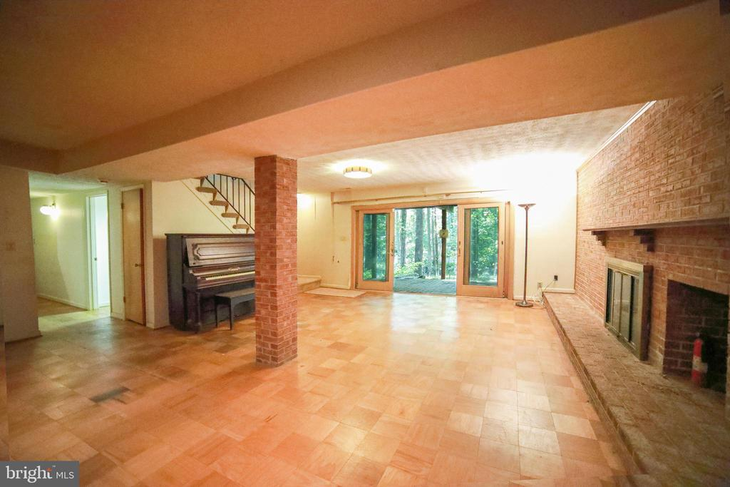 Large lower level with fireplace - 10209 WESTFORD DR, VIENNA