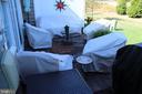 Rear brick patio. - 267 LONG POINT DR, FREDERICKSBURG