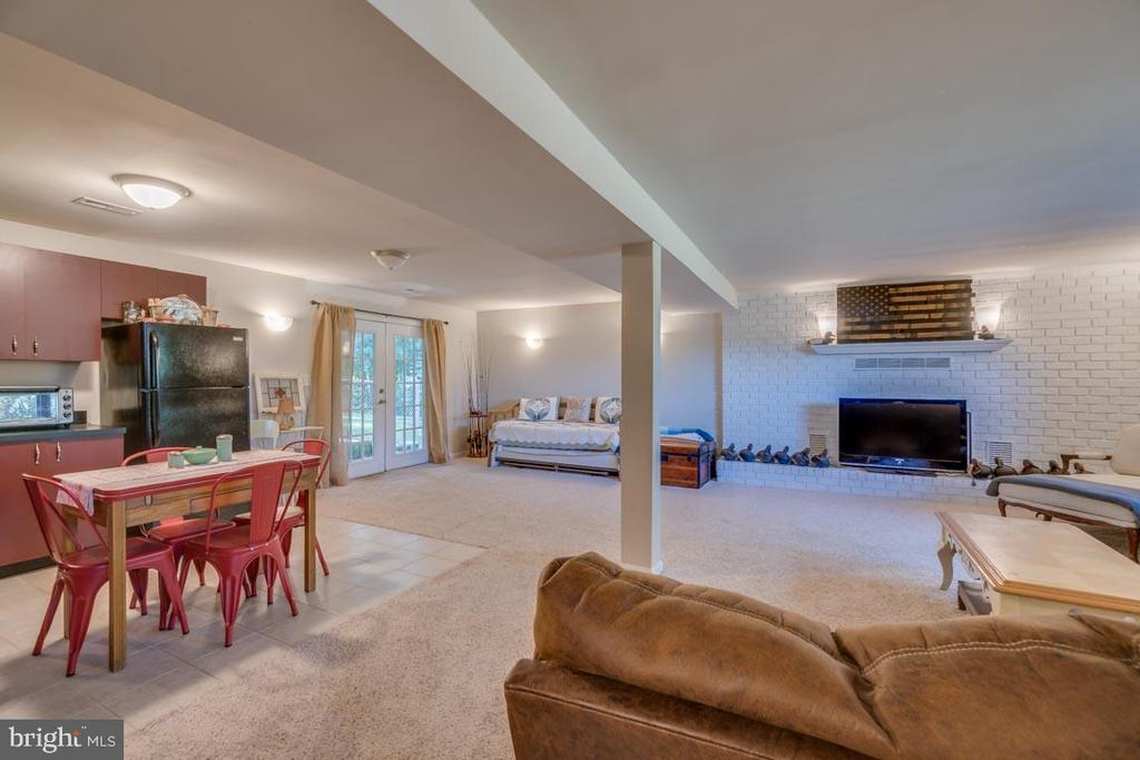 Recreation Room with Wood Burning Fireplace - 1463 MOUNTAIN VIEW RD, STAFFORD
