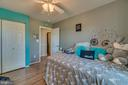 Bedroom Three has Hardwood and Ceiling Fan - 1463 MOUNTAIN VIEW RD, STAFFORD