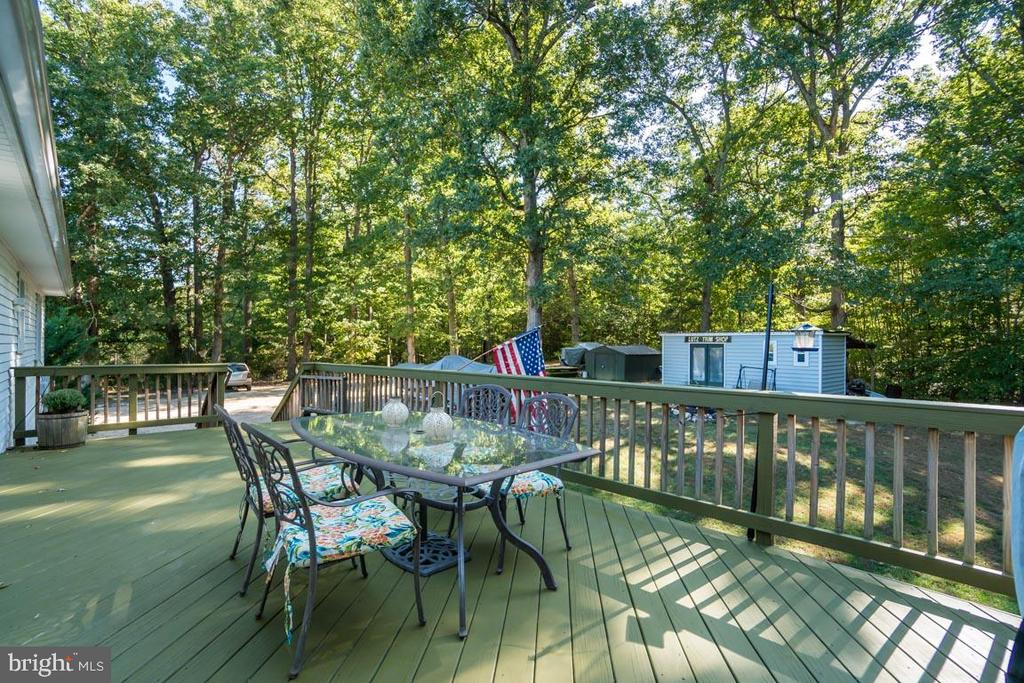 Deck off Kitchen/Dining Room - 1463 MOUNTAIN VIEW RD, STAFFORD